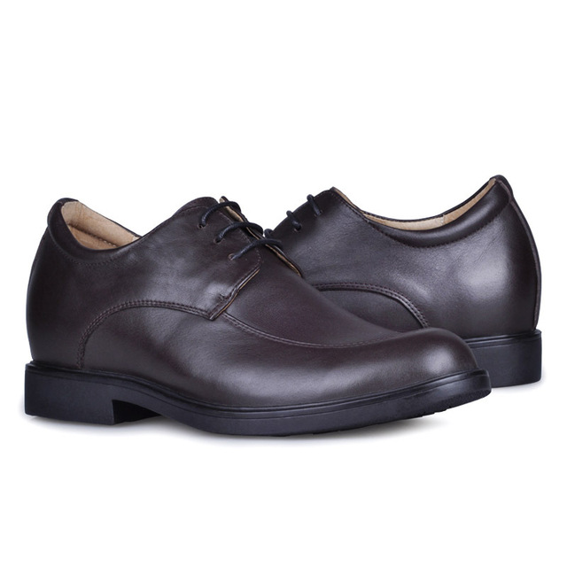 8786_1-(Brown) New Arrival Men's Dress  Elevator shoes gain 2.5inches about 6cm