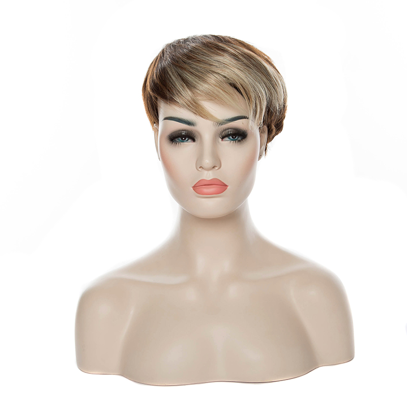 HAIRJOY Women Synthetic Hair <font><b>Wig</b></font> Short Straight <font><b>Wigs</b></font> <font><b>10</b></font> Colors Available image