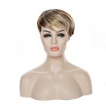 HAIRJOY damskie peruki syntetyczne krótkie peruki z prostymi włosami dostępne w 10 kolorach