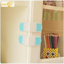 10Pcs 7cm Baby Drawer Cupboard Refrigerator Plastic Locking Protection Kids Straps Safety Right Angle Corner Cabinet Locks