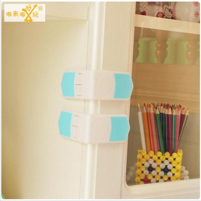 10Pcs 7cm Baby Drawer Cupboard Refrigerator Plastic Locking Protection Kids  Straps Safety Right Angle Corner Cabinet