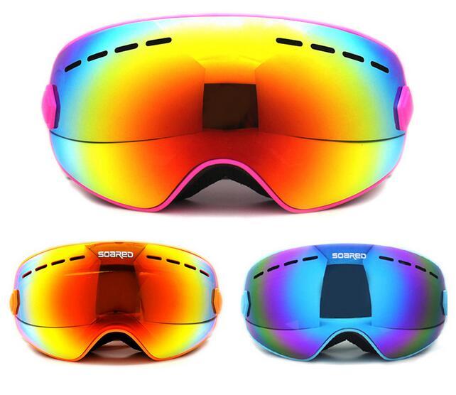Prix pour GRIMPÉ EN FLÈCHE D'hiver En Plein Air Sport Snowboard Lunettes De Protection Enfants Enfants Neige Ski Polarisés des Lunettes Anti-Brouillard Skate Ski Lunettes