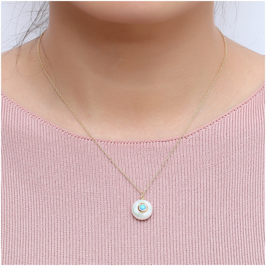 HTB1QsVtXOfrK1RjSspbq6A4pFXaQ Hongye 2019 New Fashion Freshwater Pearl Necklace Women 925 Sterling Silver Chain 12mm Pearl Pendant  Jewelry Necklace For Gift