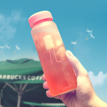 Keythemelife Water Bottles 500ml Frosted Leak-proof Health Portable tools Outdoor Sport Water Bottle Candy Color CA