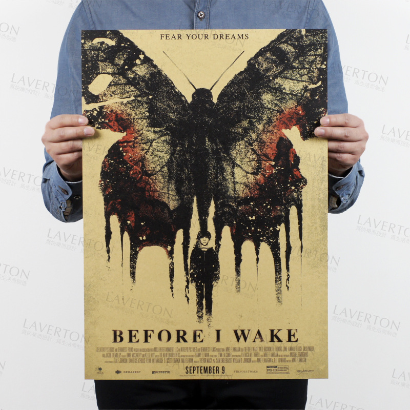 Before I Wake /classic Thriller movie film/kraft paper/Cafe/bar poster/Retro Poster/decorative painting 51x35.5cm Free shipping image