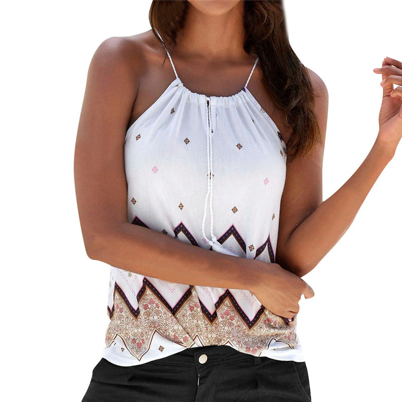 HOT sell Fashion womens tops and blouses summer 2018 Loose Sleeveless Casual Tank T-Shirt Blouse Tops Vest camicette Y17#N (10)