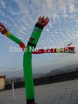 Inflatable Wave One Leg Multicolor Arms Air Dancer Sky 6m  Advertising Inflatables