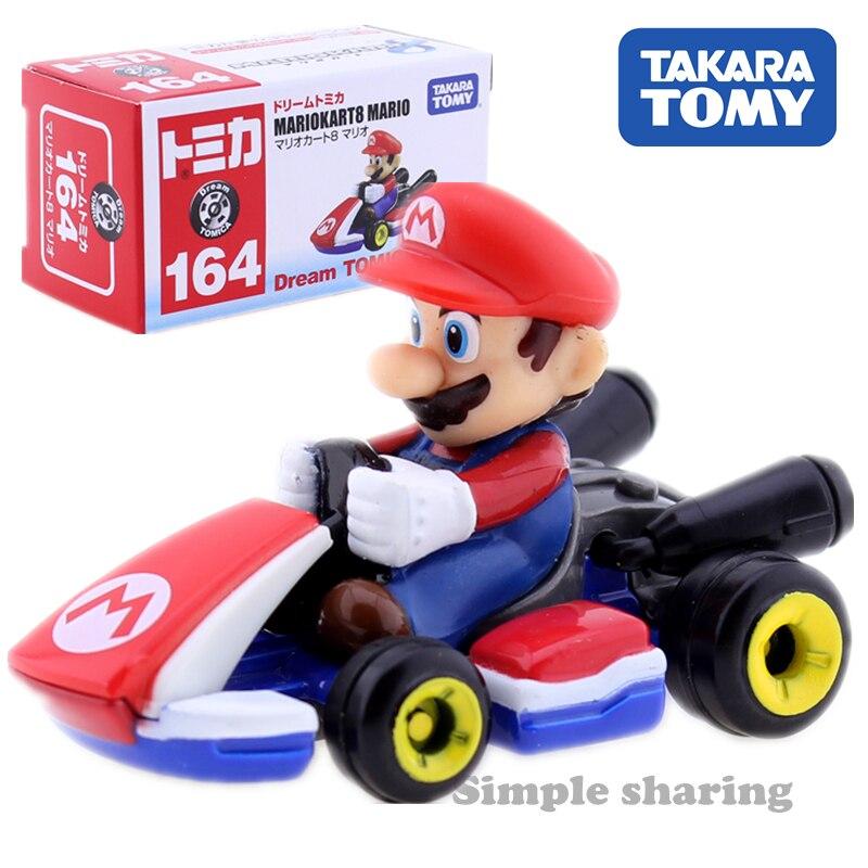 TAKARA TOMY Dream TOMICA No.164 MARIOKART 8 MARIO Roadster Model Kit Diecast Miniature Car mold Hot Anime Figure giocattoli per bambini