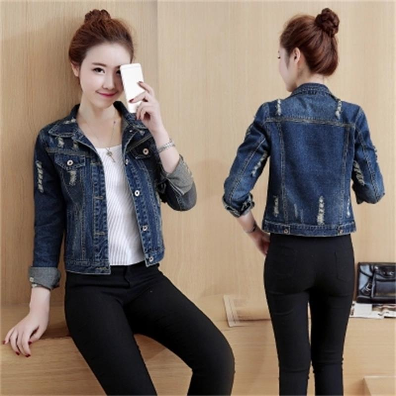 New jeans   jacket   women plus size 5XL Denim   Jackets   Vintage Casual Coat Female   Basic   Coats for Outerwear jaqueta feminina casaco