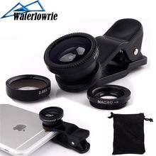 Wide Angle Macro Fisheye Lens Camera Kits Mobile Phone 3 in 1 Fish Eye Lenses with Clip 0.67x for iPhone Samsung All Cell Phones(China)