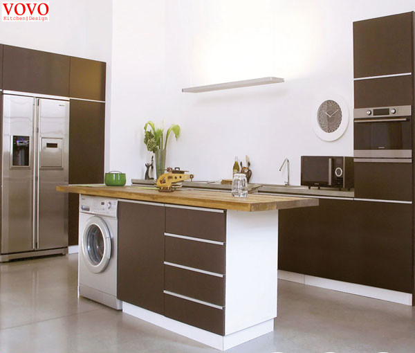 Black Painting Kitchen Cabinet