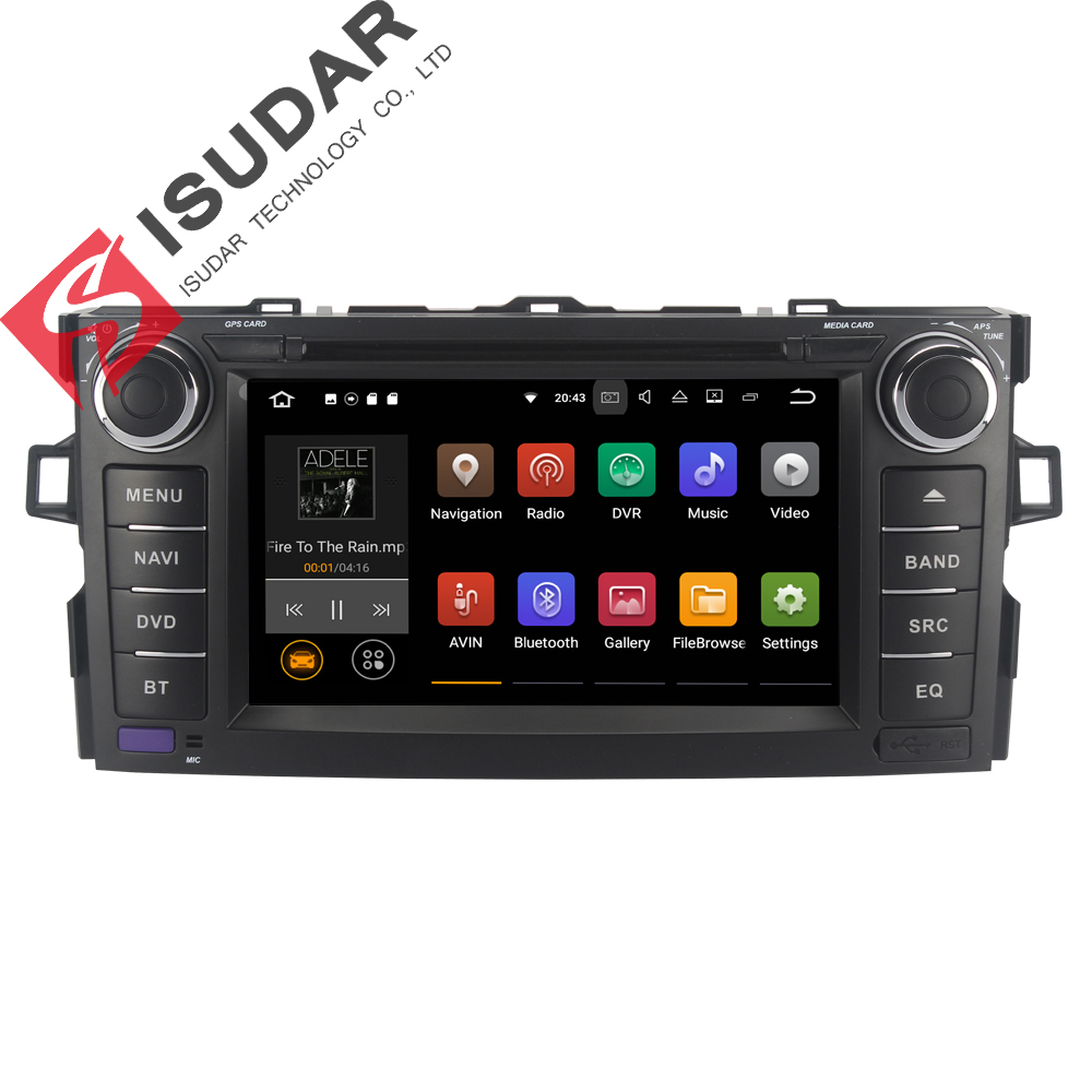 Android 7 1 1 Two Din 7 Inch Car DVD Player For TOYOTA AURIS Altis COROLLA