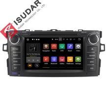 Android 7.1.1 Dos Din 7 Pulgadas de Coches Reproductor de DVD Para TOYOTA/AURIS/Altis/COROLLA 2012 2013 RAM 1G/2G WIFI GPS de Navegación de Radio USB