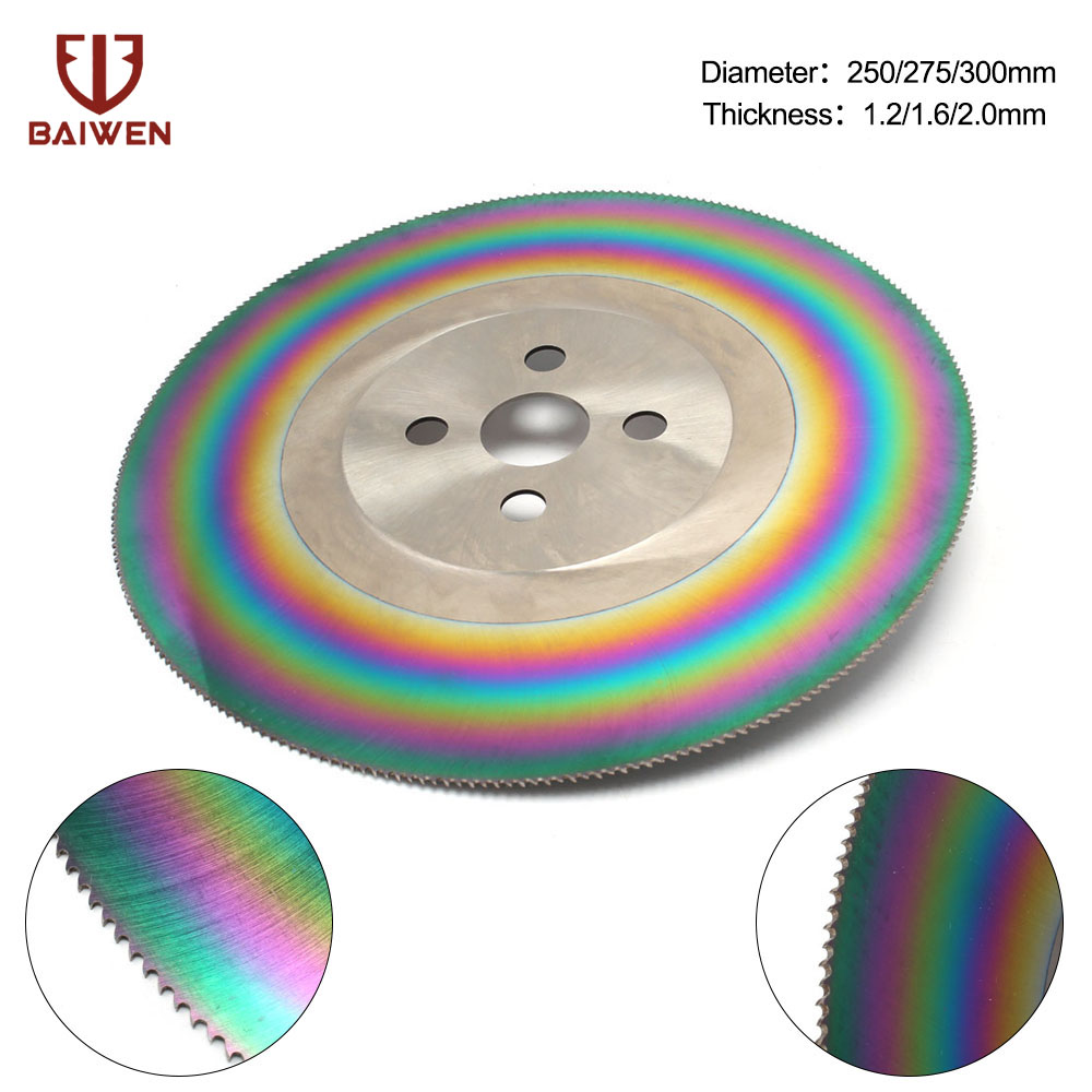 10'' High Speed Steel Circular Saw Blade Cutting Disc For Stainless Steel HSS Thickss 1.2/1.6/2mm 250mm/275mm