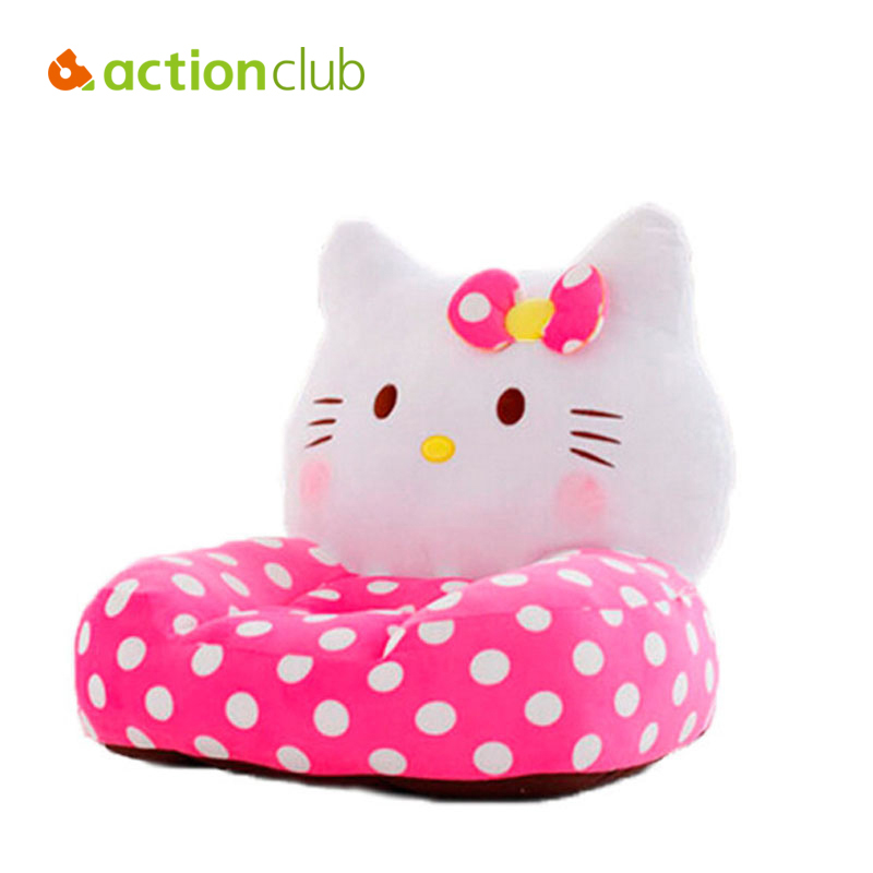 Actionclub Splashy Hello Kitty Relax Baby Feeding Chair Child Seat Sofa Kids Cotton Lounge Chair Plush Toys HK443 hot sale super soft baby sofa multifunctional inflatable baby sofa chair sofa seat portable child kids bath seat chair