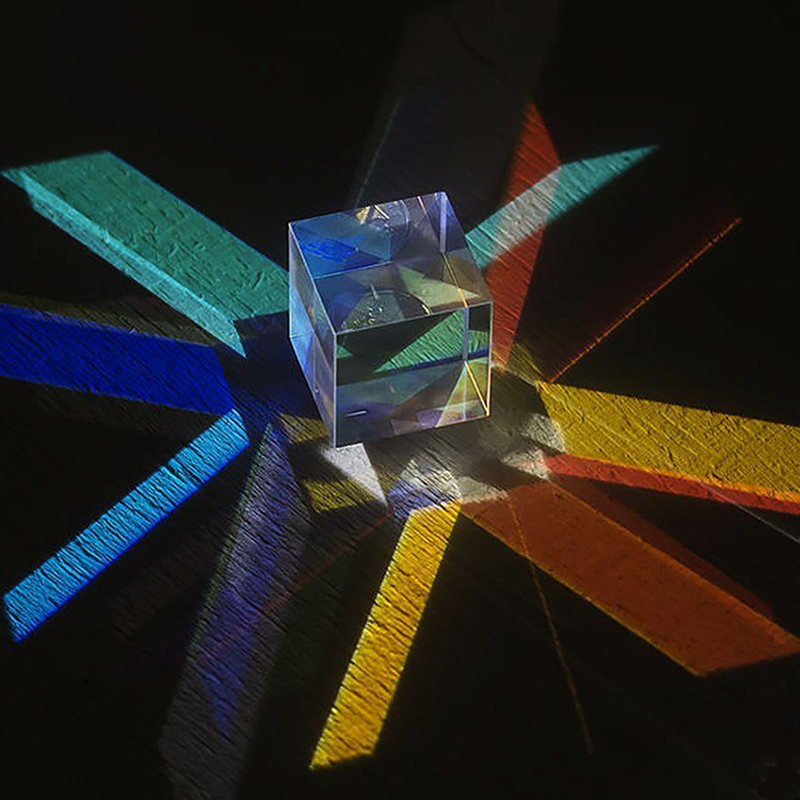 X-Cube Optisch-spektroskopische Prisma Wissenschaft Experiment Physik Spielzeug