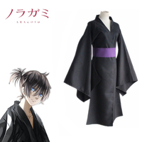 Yato Kimono Cosplay Noragami Costume Japanese Anime Black Combat Suits Costumes With Coat Girdle Popular Unisex Adults Costume