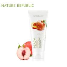 Nature Republic Korean Skin Care 170ml Peach Fresh Herb Cleanser Vitamin Face Cleansing Moisturizing Whitening Deep Clean