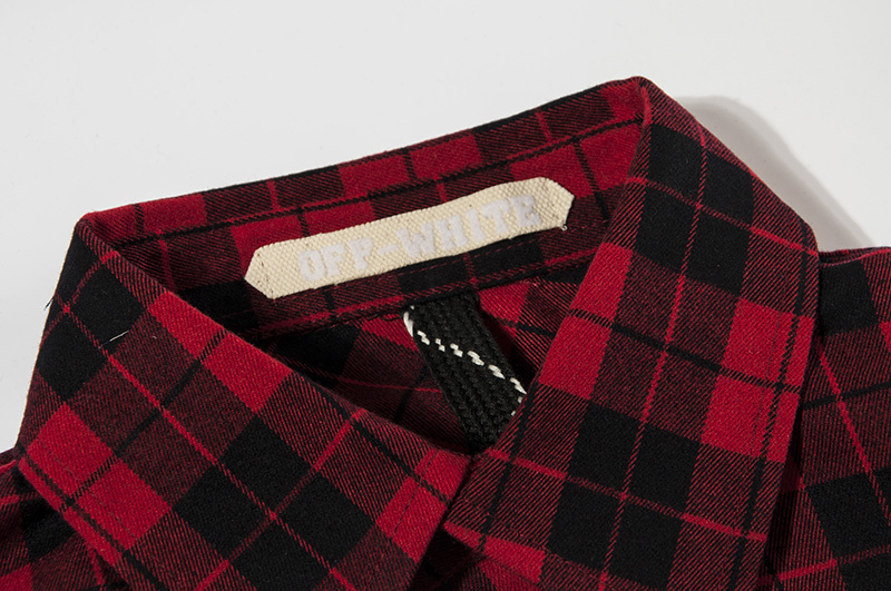 5b977a07f6f5 Top Quality Off White C O Virgil Abloh Stripe Print Shirt Pyrex Vision  Kanye West Men s 13 Plaid Flannel Long Sleeve Red Shirts-in T-Shirts from  Men s ...