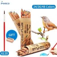 MARCO 24 36 48 Colors Pencil Set Children S Pencil Drawing Pencil Art Supplies Student Stationery