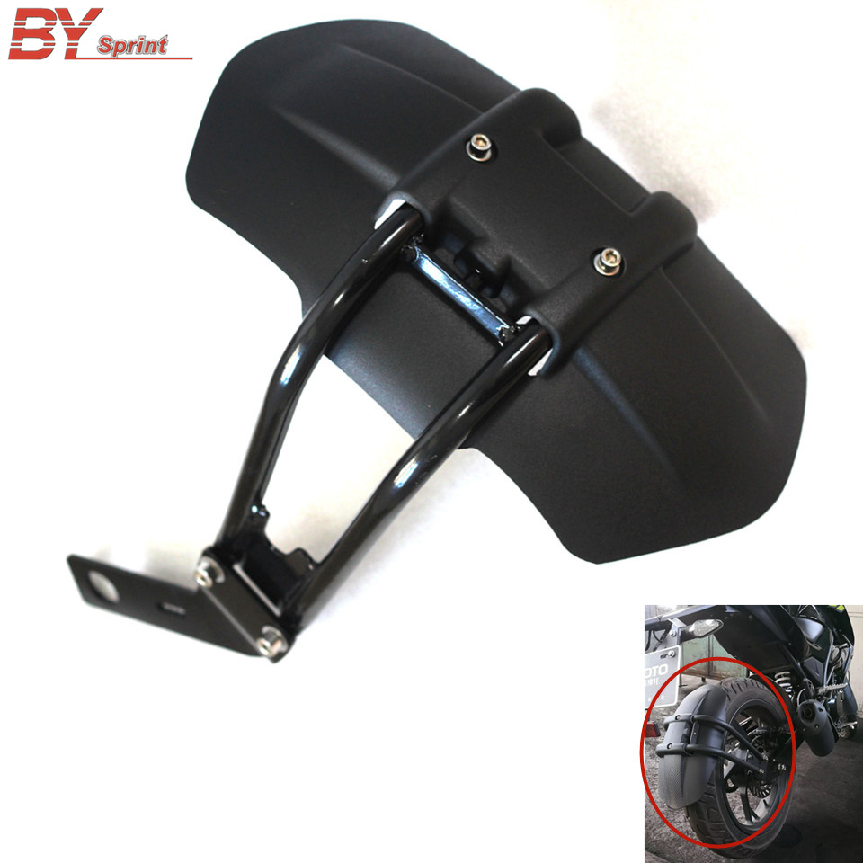 Motorcycle Metal ABS Plastic Accessories Black Rear Fender Bracket Mudguard Fits For BMW F800GS F700GS F650GS