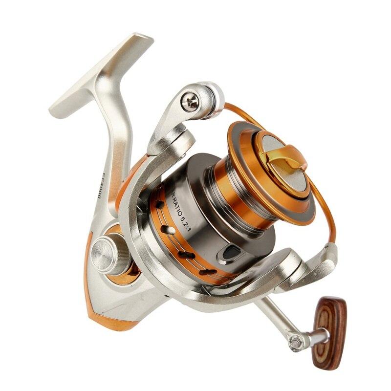 Outdoor Fishing Reels EF500-9000 12BB 5.2:1 Metal Spinning Fishing Reels Fly Wheel For Fresh/ Salt Water Fishing Tool Accessorie