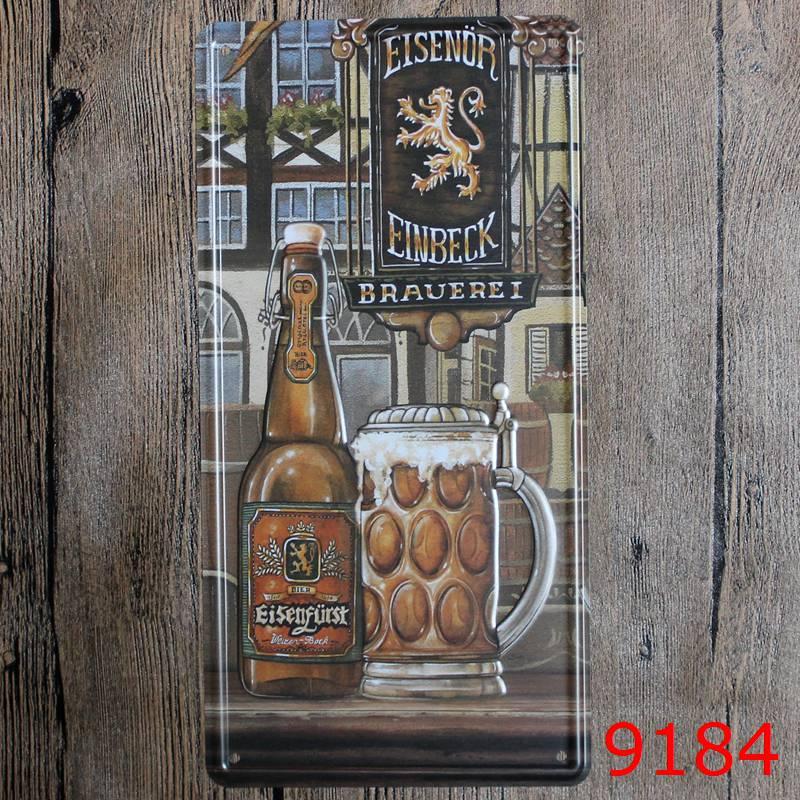 Bar Beer Wine Metal Plates Vintage Metal tin sign Bar Wall art craft ...