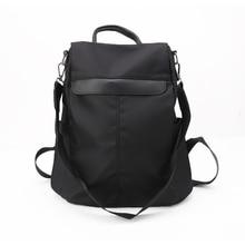 Women Girl Backpack Travel Nylon Rucksack Shoulder School Daypack Anti-Theft Bags with Bear Pendant