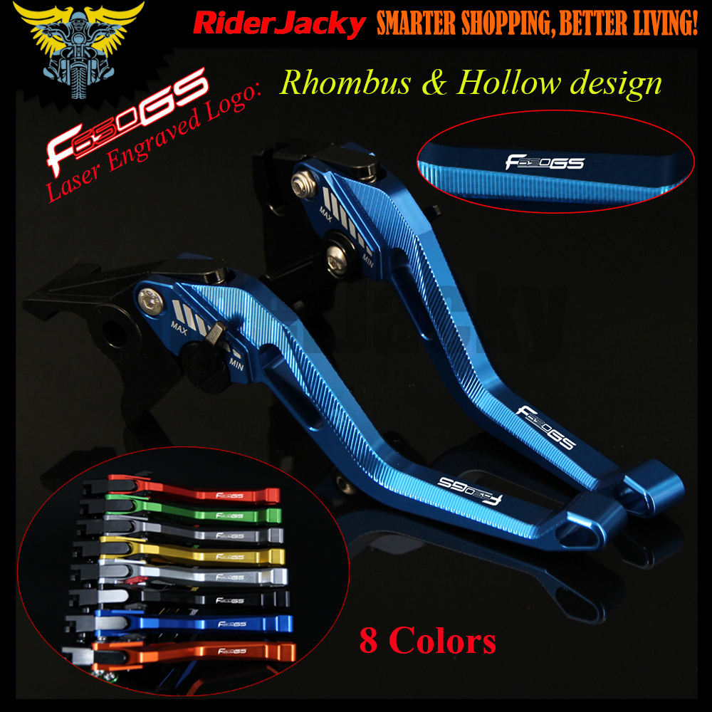 3D Rhombus Hollow design Blue Motorcycle CNC Adjustable Brake Clutch Levers For BMW F650GS F650 GS 2008-2012 2009 2010 2011 new cnc adjustable blue