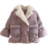 2018 Autumn Winter Child Jacket Warm Kid Boys Girls Coats Thicken Outerwear 3 10T Thick Plush
