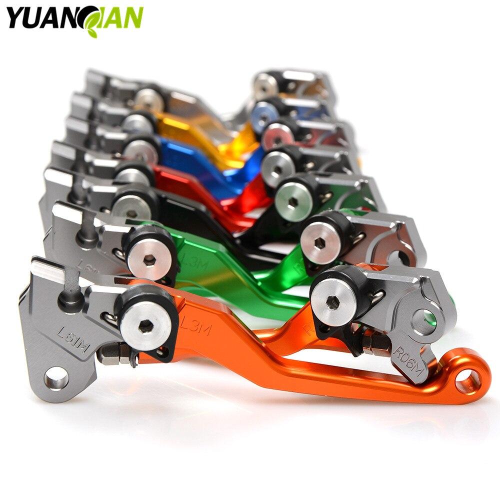 Motocross dirt bike CNC Pivot Brake Clutch Levers For YAMAHA YZ80 85 125 250 250F 425F 450F 250X 250FX WR 450 F WR 250R 250F
