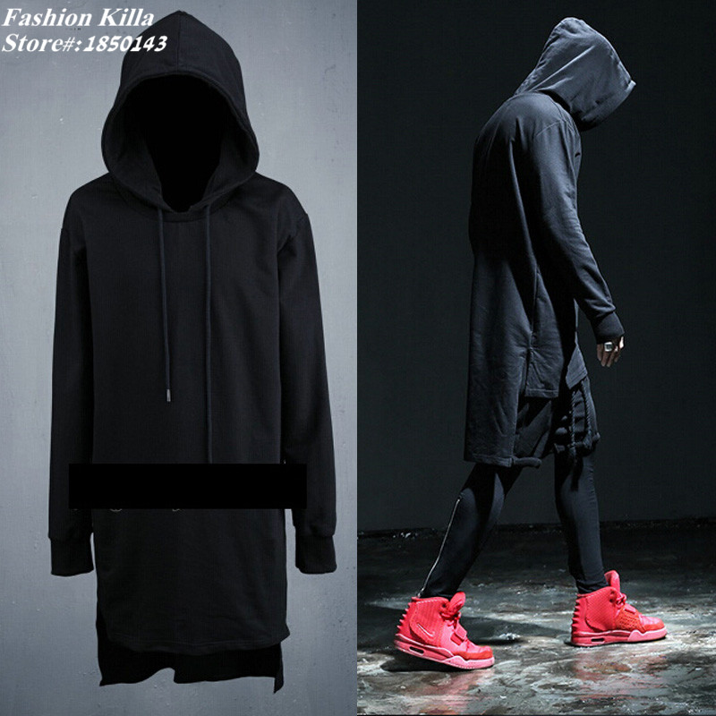 swag clothes mens side split oversized big hoodies