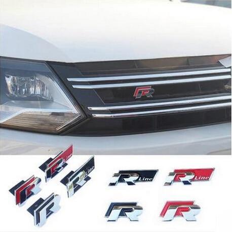 Rline 3D Metal Car Stickers for VW Volkswagen Automobiles R line Refit Badge Car Emblem Accessories Sticker Car-Styling dsycar 3d metal sport car sticker emblem badge for for universal cars motorcycle car styling decorative accessories chevrolet ds