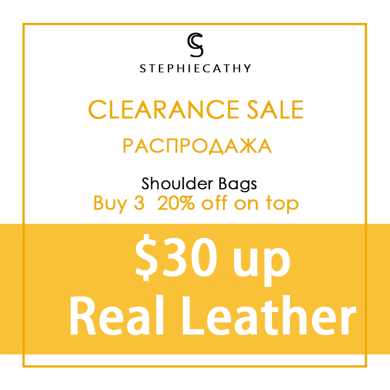 StephieCathy Big Promotion Clearance Sale for High Quality Genuine Leather Women Shoulder Bags Crossbody Bags Hobos