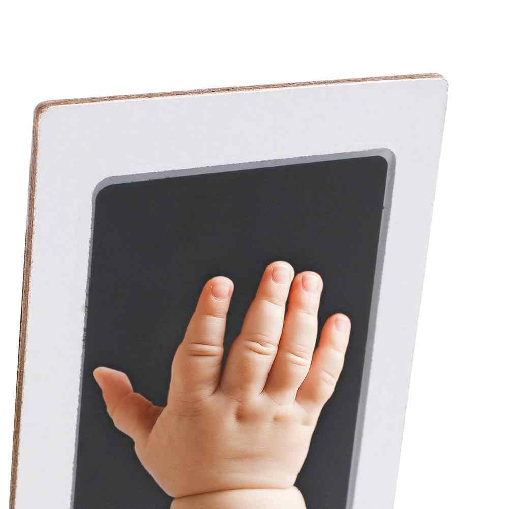 2 pièces bébé soins Non-toxique bébé empreinte de main empreinte Kit bébé Souvenirs coulée nouveau-né empreinte encre Pad infantile argile jouet