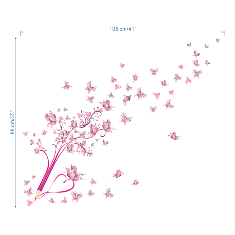 Літаючий Рожевий Buttrfly Квітка - Домашній декор - фото 2