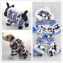 Собачья собака комбинезоны домашнее животное флис hoodies щенок одежда олень дизайн s-xxl F12
