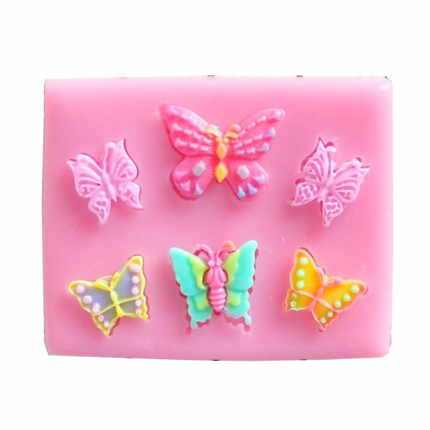 Butterfly 3D Reverse sugar molding fondant cake silicone mold for polymer clay molds pastry candy making decoration tools F0148