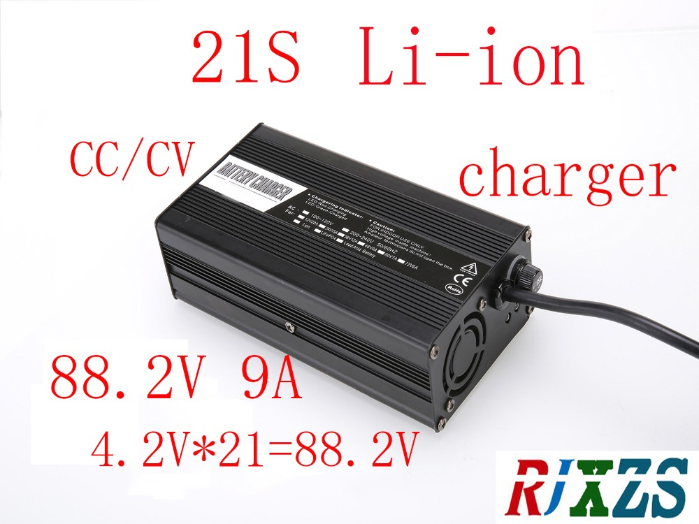 88 2V 9A charger for 21S lipo lithium Polymer Li ion battery pack smart charger support