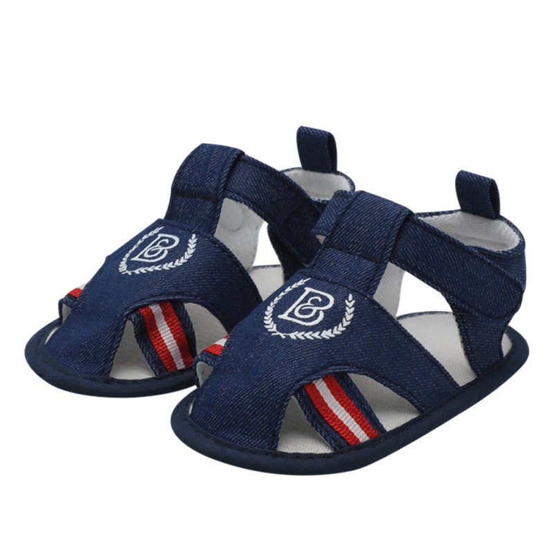 Summer Newborn Baby Shoes The Fashion Walker Stitching Print Casual Shoes Imitation Denim Canvas Baby Shoes