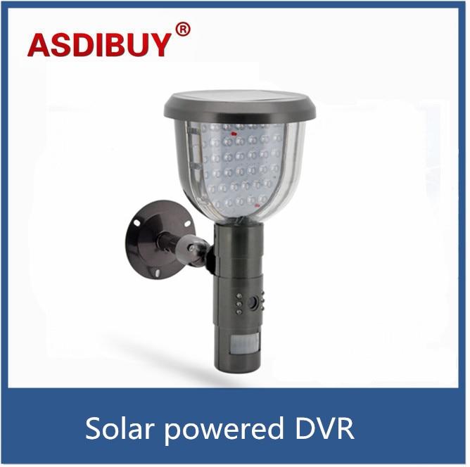 waterproof solar yard dvr security camera with pir motion