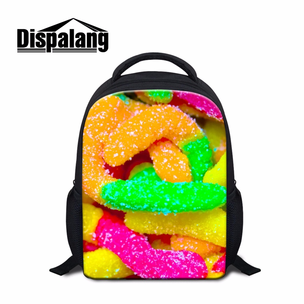 Colorful Candy 3D printed School Backpacks for Kids Small Bookbags ...
