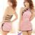 Clássico chinês Cheongsam Lingerie Sexy Pendurado No Pescoço Cinta Backless Cruz Dividir Nightclub Costume Adult Sex Mini Vestido Rosa
