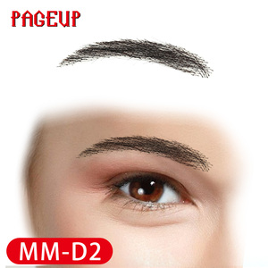 Image 5 - Pageup Handmade False Eyebrows For Women Made By 100% Real Hair For Party Wedding Cosplay Star Fake Eyebrow Synthetic Eyebrows