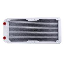 цены 240mm 18 Tube Straight G1/4 Thread Water Cooling Cooler Heat Radiator Exchanger for PC Computer Water Cooling System Wholesale