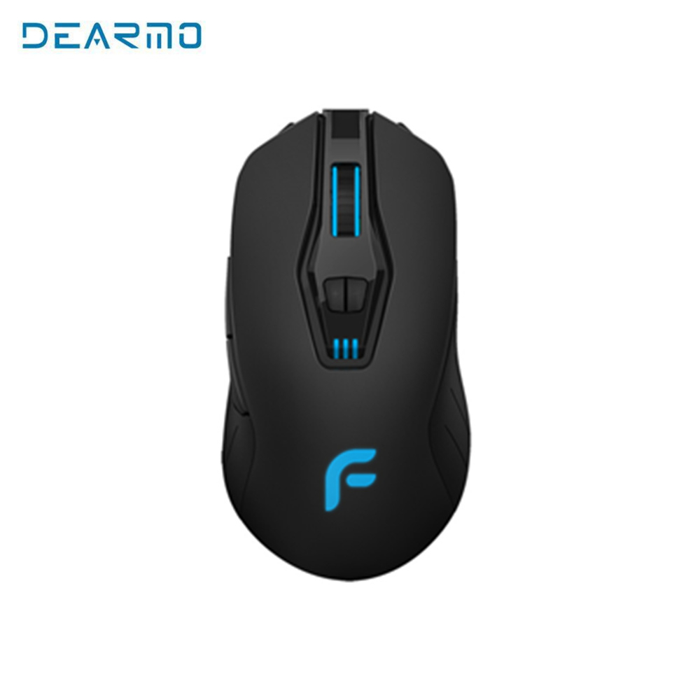 Dearmo F18 RGB Gaming Mouse USB Wired 7 Buttons Backlight 6000 Adjustable DPI Optical Gamer Mice Computer for LOL DOTA 2 i rocks im3 we usb 2 0 wired 3500dpi optical gaming mouse w backlight white