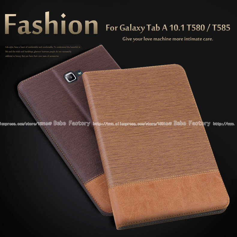 High quality PU leather Case For Samsung Galaxy Tab A A6 10.1 2016 T585 T580 T580N tablet stand Cover + Film + Stylus high quality cartoon print stand pu leather tablet cover protective case for samsung galaxy tab a 10 1 t580 t585 sm t580 t580n