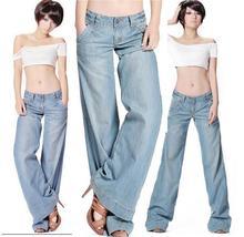 Плюс размер расклешенных середины талии худая попа-подъема сыпучих широкую ногу flare джинсы женские тонкие T186
