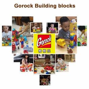 Image 5 - Blocs de construction de figurines danimaux de ferme heureuse, grande taille, ensemble de cadeaux pour enfants, bricolage, Compatible Duploe, briques de ville, jouets pour enfants, cadeau