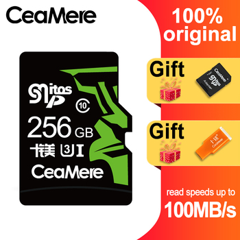 CeaMere 256GB 128GB 64GB Memory Card  U3 UHS-3 32GB Micro sd card Class10 UHS-1 flash card Memory Microsd TF/SD Cards for Tablet